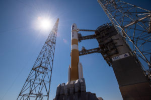 The Air Force's 45th Space Wing supported United Launch Alliance's launch of the WGS-9 spacecraft aboard a Delta 4 rocket from Space Launch Complex 37 on March 18, 2017. Credit: ULA