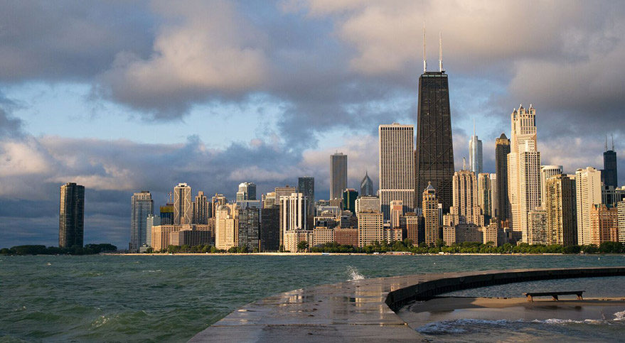 Chicago: Lit by the Morning Sun by Roman Boed