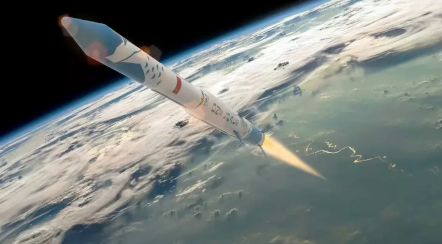 A render of the OS-M1 rocket. Credit: OneSpace