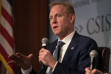 U.S. Acting Secretary of Defense Patrick M. Shanahan speaks at the Center for Strategic and International Studies, Washington, D.C, March 20, 2019. (DoD photo by Lisa Ferdinando)