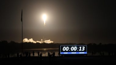 Crew Dragon Falcon 9 liftoff