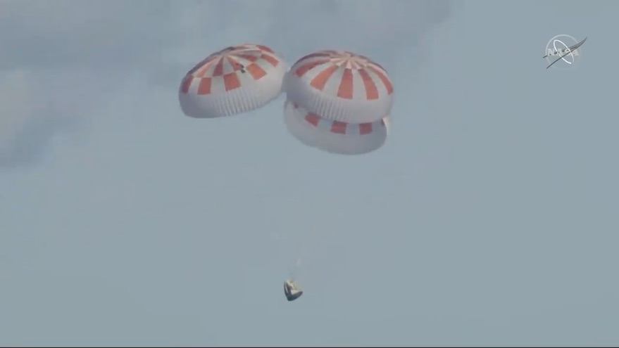 Demo-1 splashdown