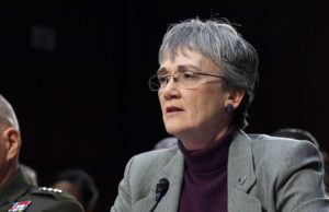 U.S. Air Force Secretary Heather Wilson testifies March 7 before  the Senate Armed Services Committee. Credit: U.S. Air Force Photo by Wayne Clark