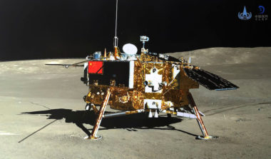 Earlier this year, there was coordination with the Chinese government regarding plans for NASA's Lunar  Reconnaissance Orbiter to take images of the landing site of Chang'e 4, the robotic spacecraft shown above that China landed on the far side of the moon in January. Credit: CNSA/Xinhua