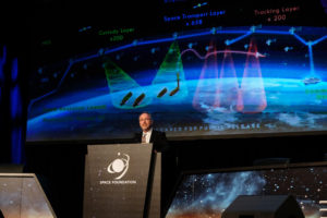 Space Development Agency Director Fred Kennedy outlines his vision for a space architecture that leverages commercial industry to deliver military capabilities. Credit: Tom Kimmell for SpaceNews