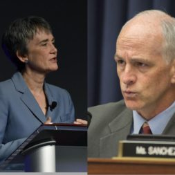 Air Force Secretary Heather Wilson; House Armed Services Committee Chairman Adam Smith