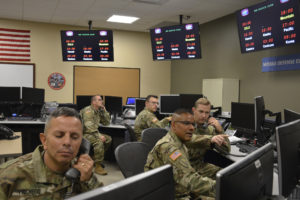 100th Missile Defense Brigade National Guard soldiers operate missile warning satellites at Schriever Air Force Base, Colorado. Credit: National Guard