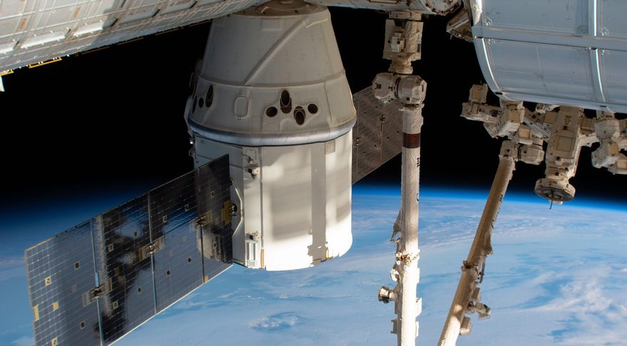 Dragon at ISS