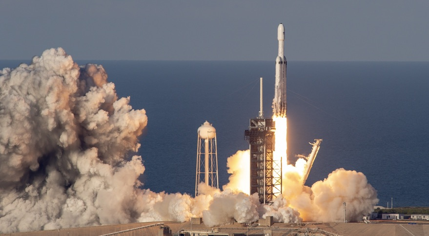 SpaceX Successfully Launches Falcon Heavy, Lands All Three Boosters