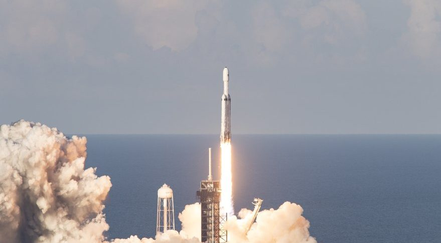 SpaceX's most powerful Falcon Heavy launches successfully on its first commercial mision