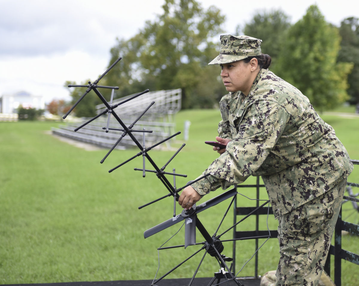 Naval Construction Group 1 Conducts MUOS Demo for FCC/C10F Deputy