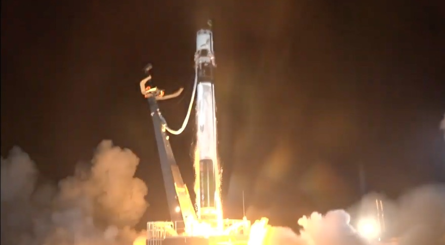 Spectacular scenes as Rocket Lab launches satellites from Hawke's Bay complex