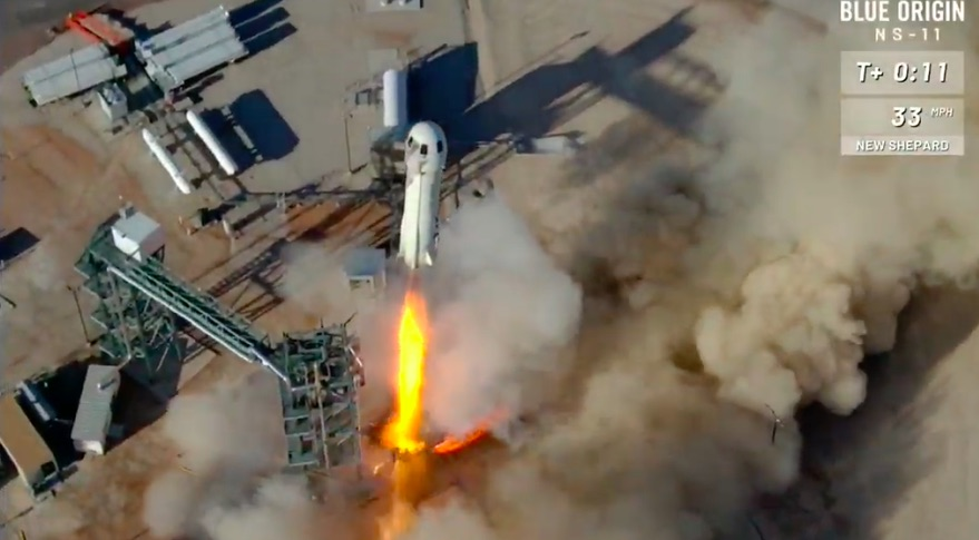 New Shepard liftoff