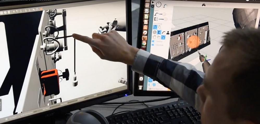Oilis Robotics Robonaut 2 demo video still - SpaceNews com