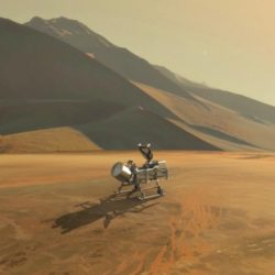 Dragonfly on Titan surface