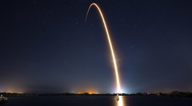 Falcon 9 launch time lapse