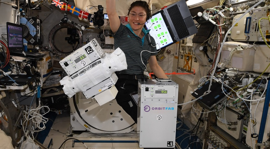Orbit Fab Furphy experiment on ISS