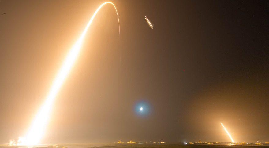 Falcon Heavy STP-2 time lapse