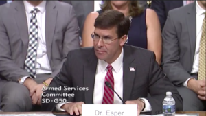 Defense nominee Mark Esper calls on Congress to provide 'necessary resources' to stand up Space Force