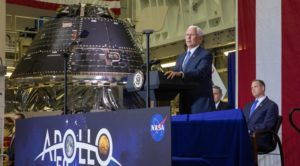 Pence and Orion at KSC