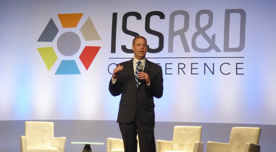 Bridenstine speaking at ISSRDC