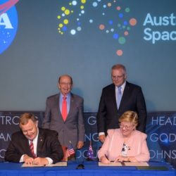 NASA Australia signing ceremony