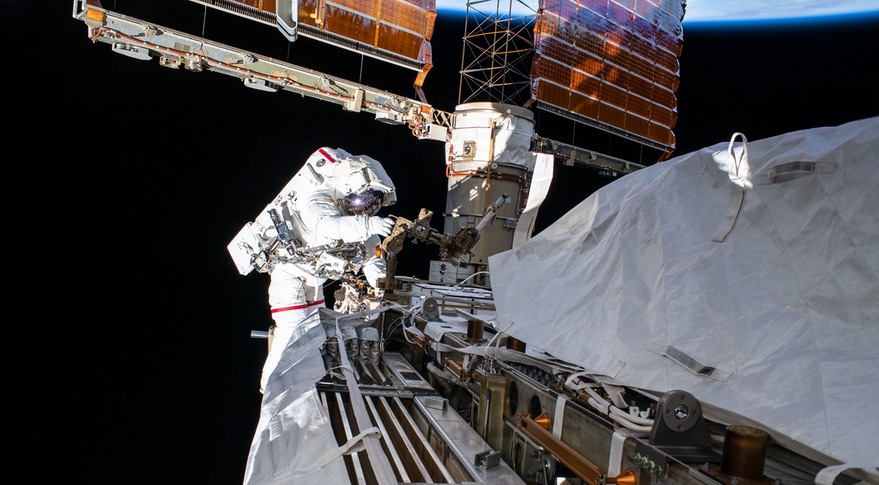 Spacewalk outside ISS