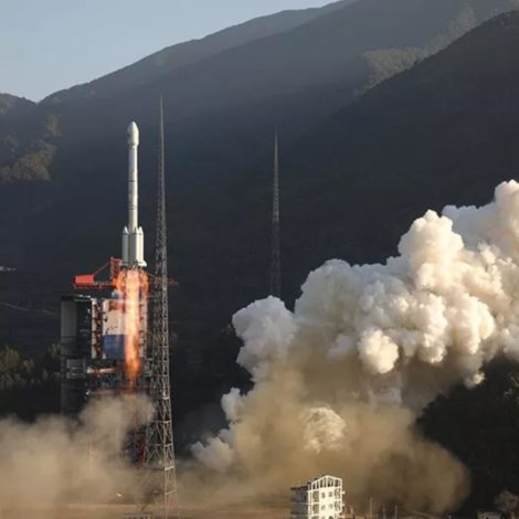 A Long March 3B launch vehicle lifting off from the Xichang Satellite Launch Center, Nov. 22, 2019.