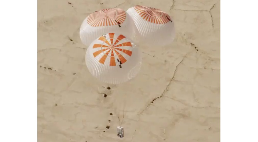 SpaceX Mark 3 parachute test