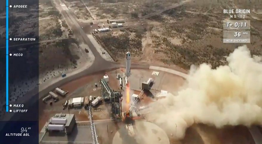 Bad Weather Delays Blue Origin Launch of Reusable New Shepard Spacecraft