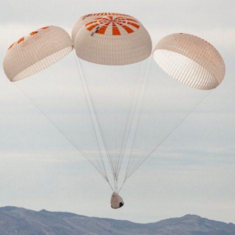 SpaceX parachute test
