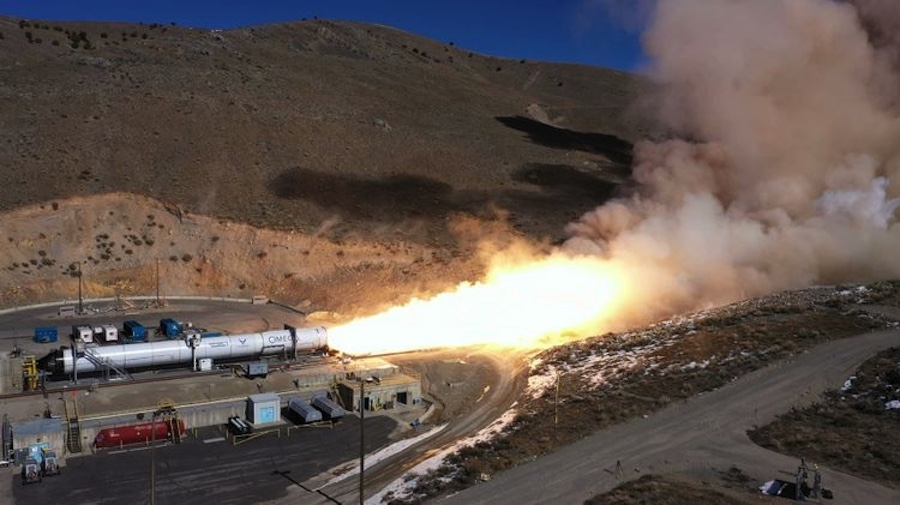 Northrop Grumman completes static fire test of OmegA rocket's second stage - SpaceNews