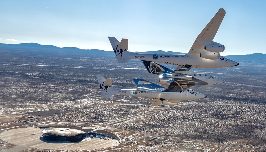 Virgin Galactic's SpaceShipTwo arrives in New Mexico