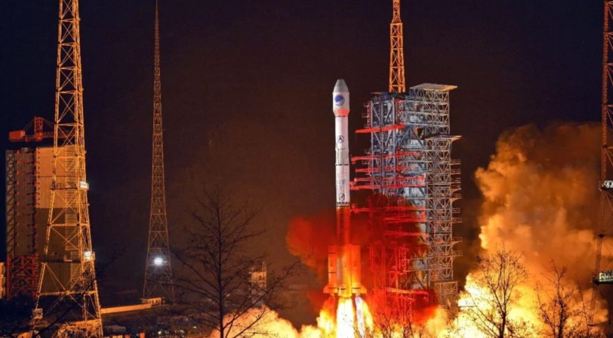 A Long March 3B lifts off from Xichang with a Beidou satellite March 9, 2020.