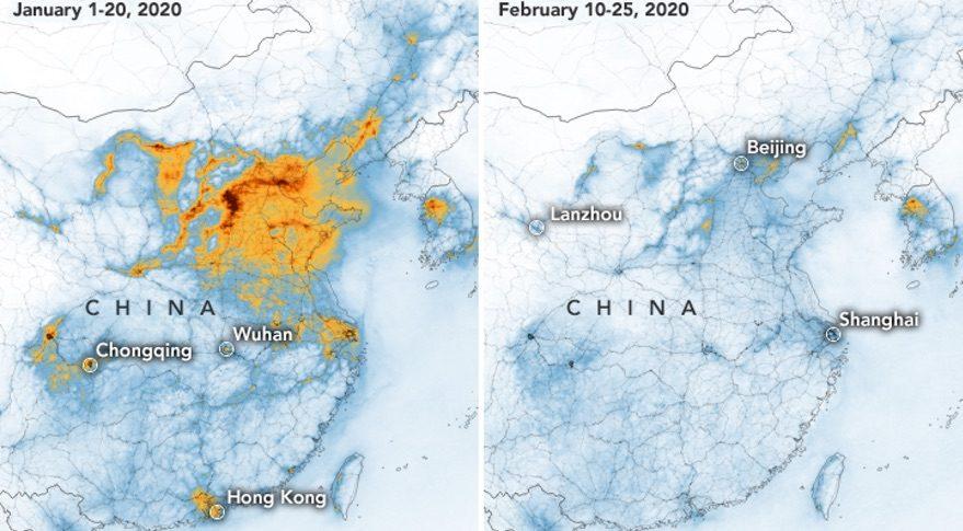China emissions map