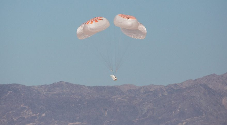 Crew Dragon parachute test