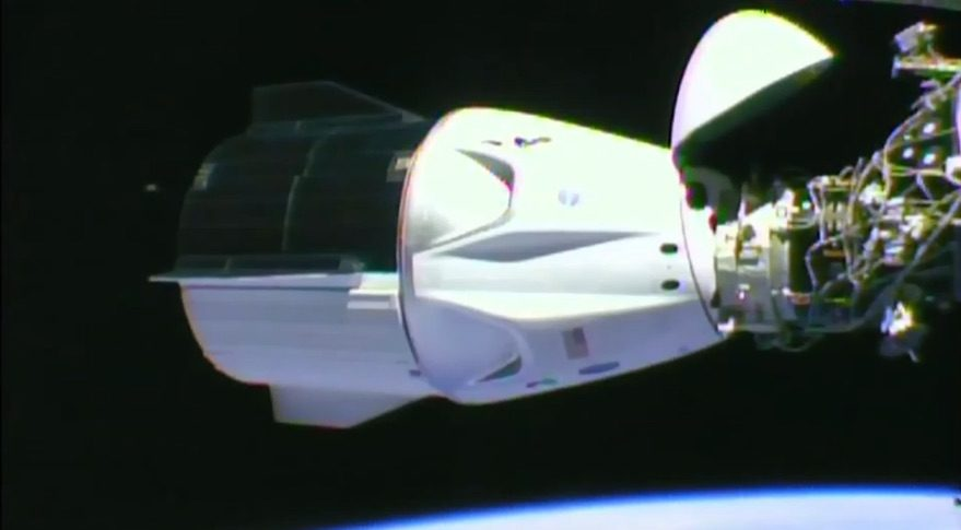 Demo-2 docking with ISS