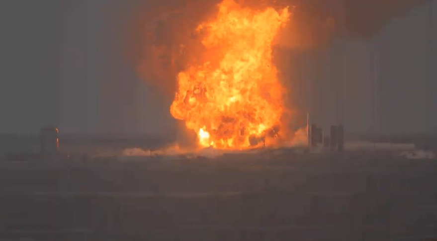 SpaceX's Starship SN4 launch vehicle prototype explodes after ...