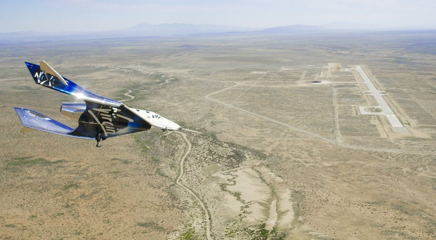 SpaceShipTwo glide flight in NM
