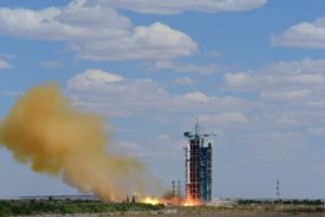 Liftoff of a Long March 2D rocket from Jiuquan on June 17, 2020, carrying the Gaofen-9 (03) Earth observation satellite into orbit.