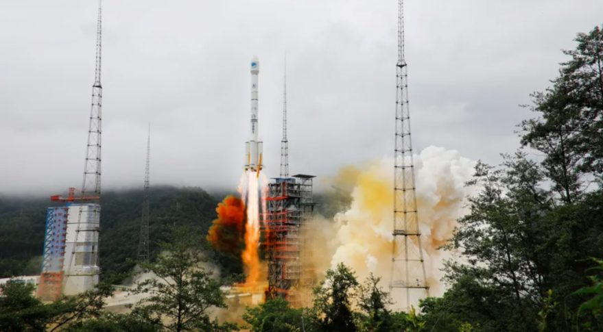 A Long March 3B lifts off from LC-2 at Xichang carrying the final Beidou satellite, June 22, 2020.
