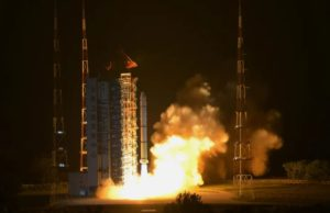 Liftoff of a Long March 2C from Taiyuan carrying the Haiyang-1D ocean observation satellite on June 10, 2020.