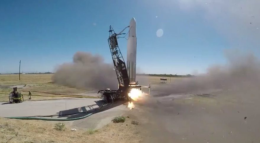 Astra rocket static fire