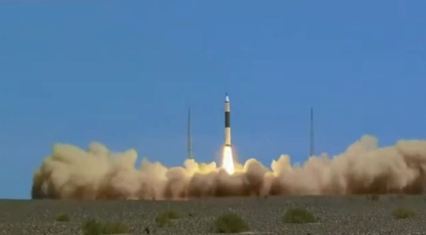 Liftoff of the first Kuaizhou-11 from Jiuquan, July 10, 2020.
