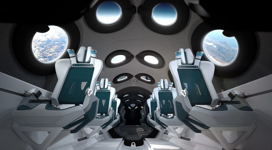 Virgin Galactic reveals off passenger spaceship cabin interior