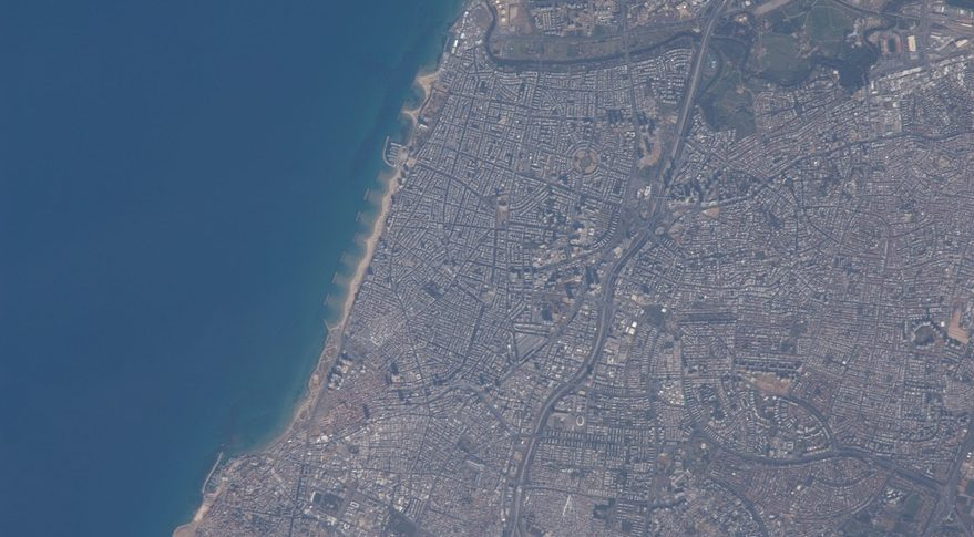 Tel Aviv as seen from ISS