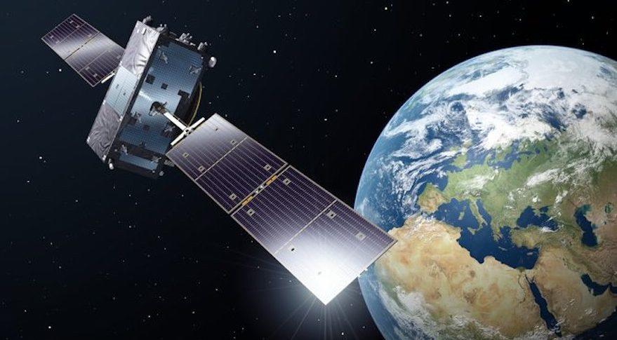 A Galileo satellite in orbit