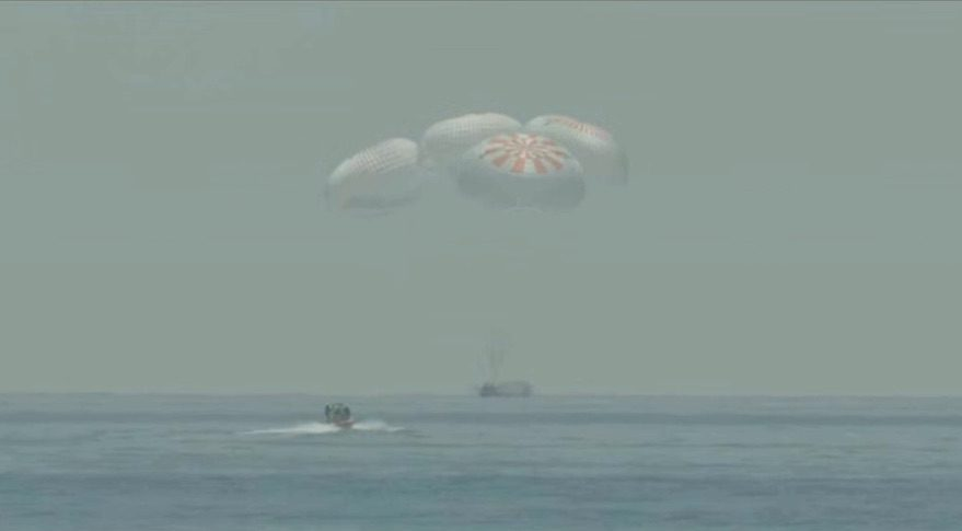 Netizens cheer as NASA astronauts splash down safely in Gulf of Mexico