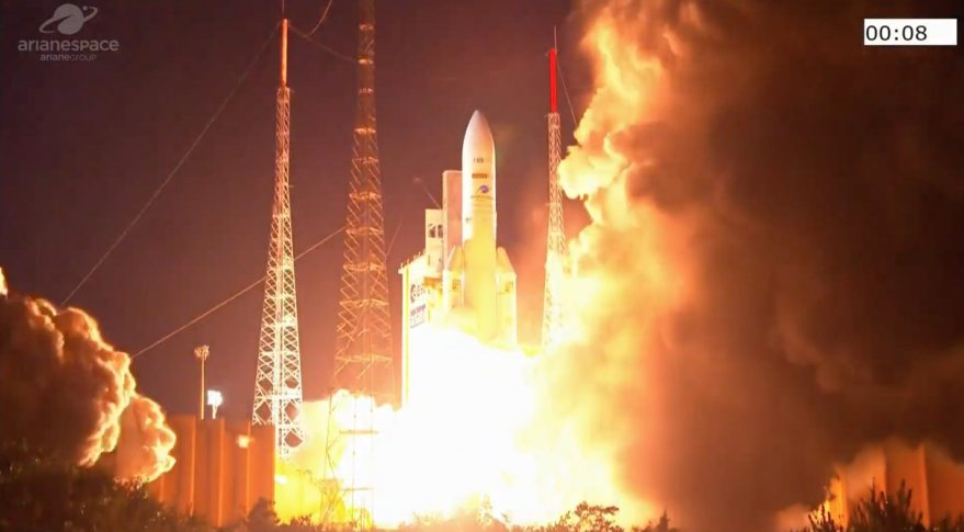 Successful placement: Ariane rocket puts telecom satellites into orbit