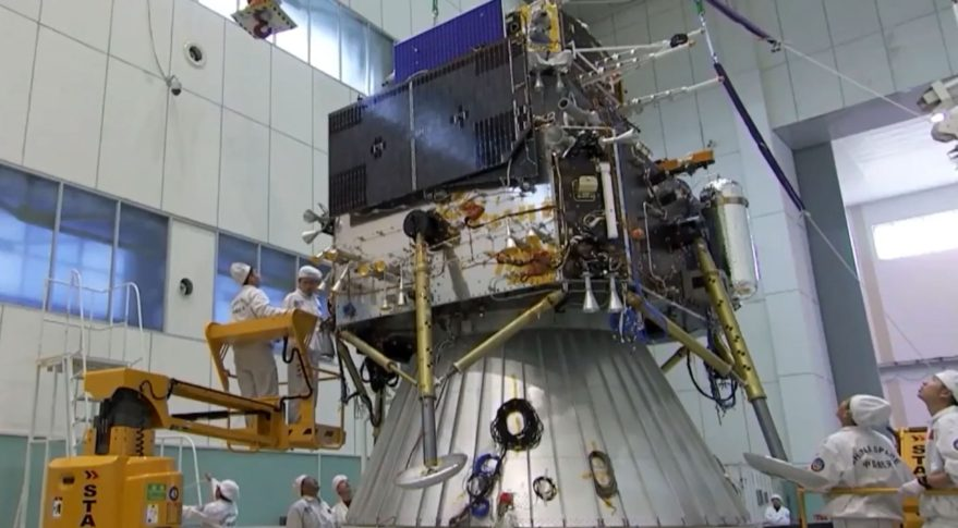 China's Chang'e-5 spacecraft stack undergoing testing.